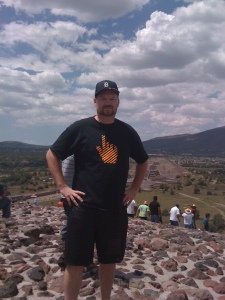 At the top of Teotihuacan