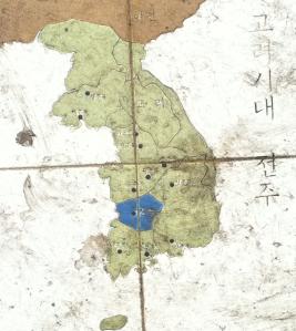 Korean Map on Tile
