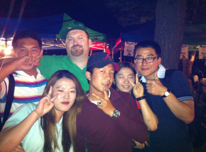 Koreans wanting to pose with me.