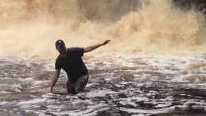 Swimming in Falls
